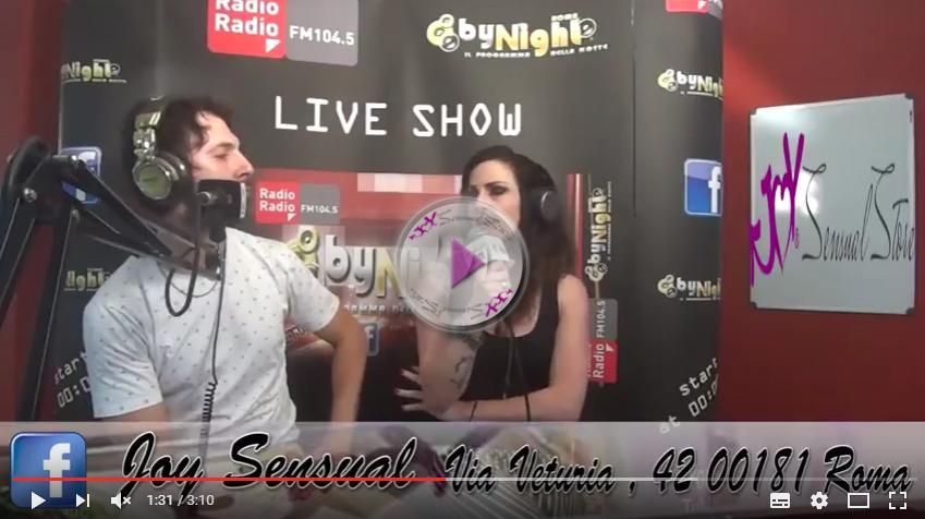 Video ::: Joy Sensual ospite di Radio Radio by night