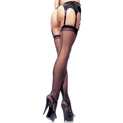 Calze velate plus size Sheer Stockings Black