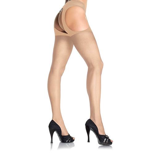 Collant velato aperto Hosiery Sheer Suspender Nude
