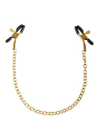Pinze per capezzoli fetish fantasy gold chain nipple clamps