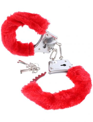 Manette di peluche rosso fetish fantasy series beginner's furry cuffs