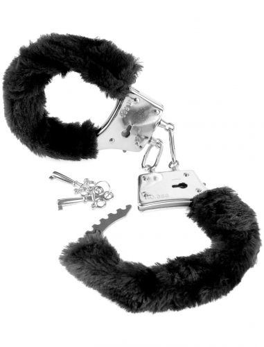 Manette di peluche nero fetish fantasy series beginner's furry cuffs