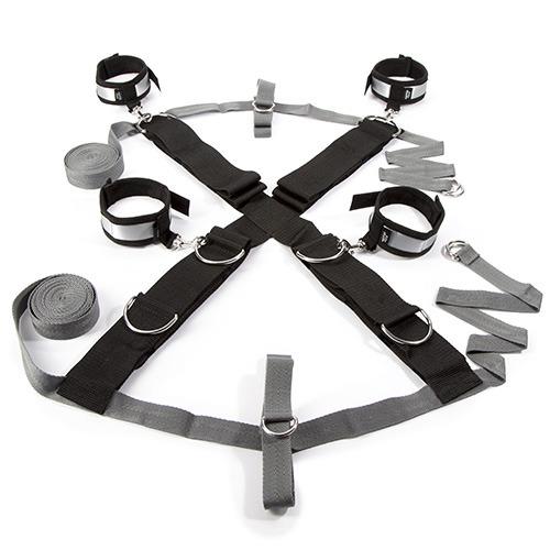 50 sfumature di grigio - kit bondage keep still over the bed cross restraint silver