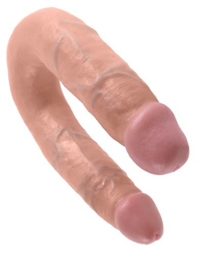 Fallo doppio realistico king cock u-shaped medium double trouble flesh