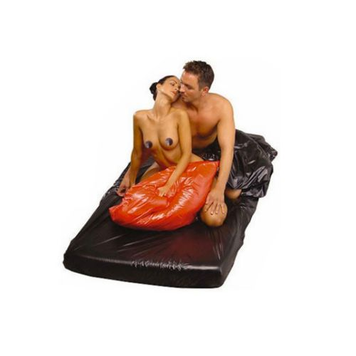 Telo copriletto in latex sexmax wetgames 180 x 220 cm black