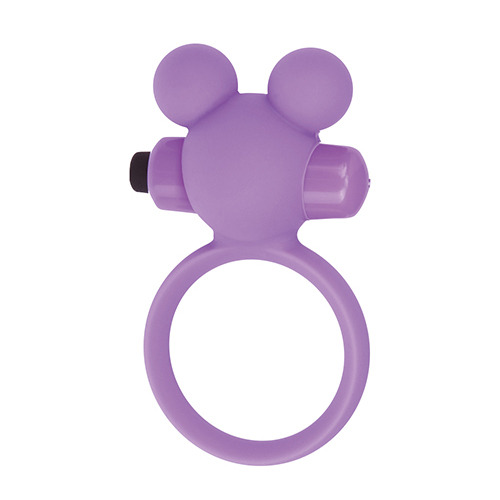 Anello fallico vibrante teddy cockring silicone purple