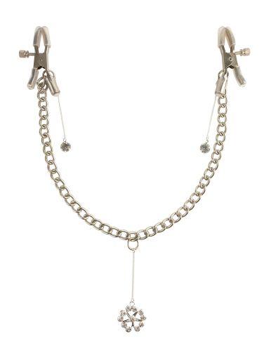 Stimolacapezzoli a pinza fetish fantasy series crystal nipple clamps