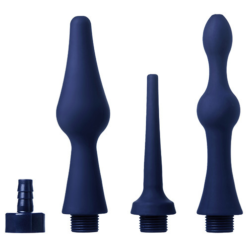 Kit soffioni doccia anale cleanstream universal 3 piece silicone enema attachment set