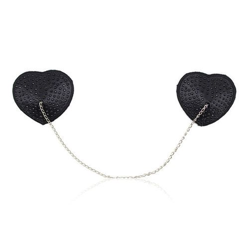 Copricapezzoli Heart Chain Black