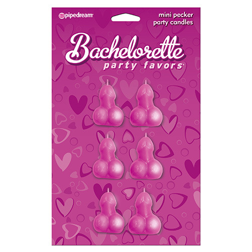 Candele bachelorette party favors mini pecker party candles - 6pc.