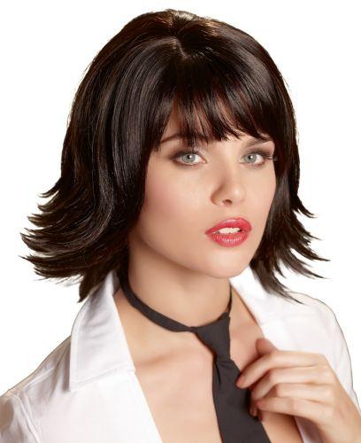 Parrucca liscia nera corta joanne