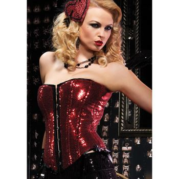 Corsetto paillettes sadie red