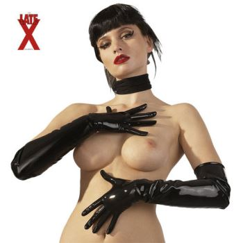 GUANTI LUNGHI NERI IN LATEX