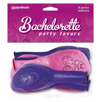 PALLONCINI BACHELORETTE PARTY FAVORS PECKER BALLOONS PINK AND PURPLE
