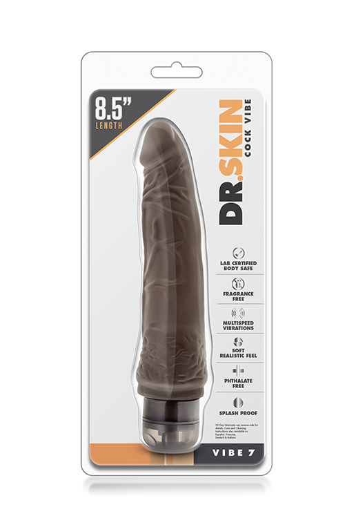 DR. SKIN COCK VIBE 7INCH CHOCOLATE
